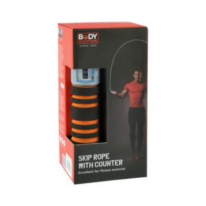 SKIP ROPE W/COUNTER BLACK/ORANGE B.S