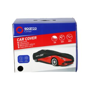 CAR COVER NON-WOVEN MEDIUM BLACK SPARCO