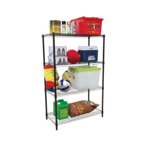 WIRE RACK 91X45X140CM 4 TIER BLACK HD