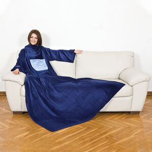 BLANKET W/SLEEVES&POCKET PLAIN MIDNIGHT