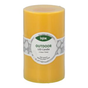"CANDLE LED FLAMELESS 3X5"" PLASTIC YELLOW"