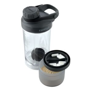SHAKE & GO FIT TUMBLER W/COMPARTMENT BLK
