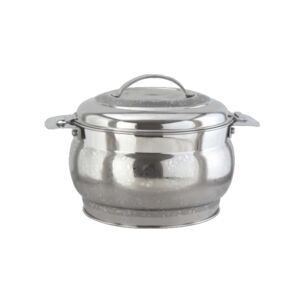 HOT POT V-SHAPE BELLY 4.5L SS FLOWER EMB