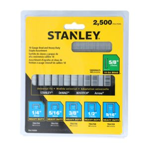 STAPLES 2,500PCS ASSORTED HD STANLEY