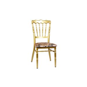 CHAIR BANQUET IRON GOLD FRAME, GOLD