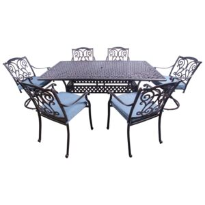 DINING SET 7PCS 1TABLE 6CHAIR W/CUSHION