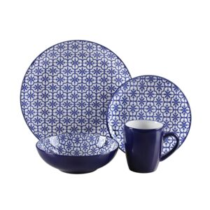 DINNER SET 16PCS MOSAIC NAVY