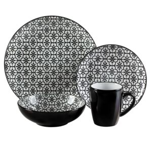DINNER SET 16PCS MOSAIC BLACK
