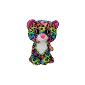 TY SOFT TOY/DOTTY MULTICOLOR LEOPARD MED