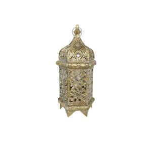 LANTERN ANTIQUE GOLD 21X18.5X46CM