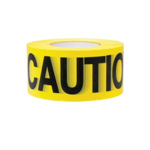 "CAUTION BARRICADE TAPE 3"" X 305M(1000')"