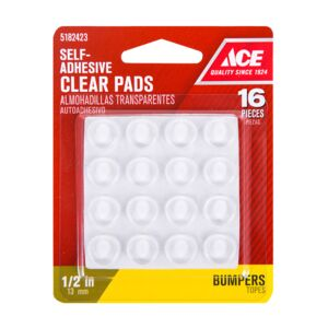 "VINYL PAD 1/2"" 16PC PROTECTOR CLEAR ACE"