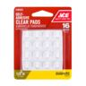 """VINYL PAD 1/2"""" 16PC PROTECTOR CLEAR ACE"""
