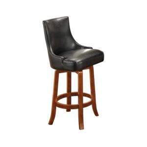 BAR STOOL SWIVEL 21X21X40CM BLACK