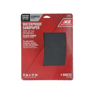 "SANDPAPER 9""X11"" 4/PK CARBIDE ASSORTED"