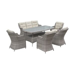 DINING 6PCS SET 7SEATER 5CHAIR 1TABLE