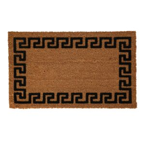"DOOR MAT 18""X30"" COCOA W/GREEK KEY BORDE"