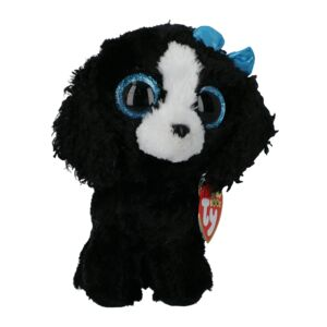 TY SOFT TOY/TRACEY BLACK/WHITE DOG REG
