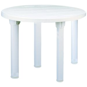 TABLE FOLDABLE ROUND 90CM WHITE