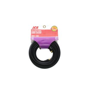 COAXIAL CABLE RG59/U 100FT BLACK ACE