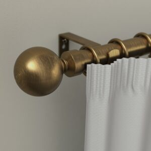 CURTAIN RODS 25/28MM BALL 160-310 GOLD