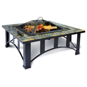 FIRE PIT 34'' TABLE MOSAIC SLATE SQ