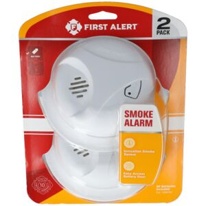 FIRE/SMOKE DETECTOR 9V VALUE PACK 2PCS