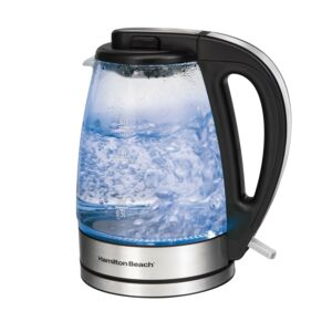KETTLE 1.7L 2000W S. STEEL/GLASS H.BEACH
