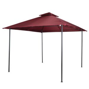 GAZEBO STEEL 3X32.65M BURGUNDY