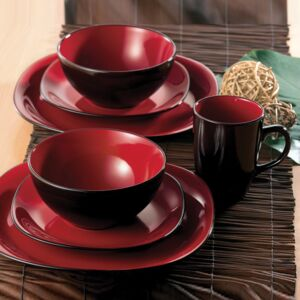 DINNER SET 16PCS BALI CARMINE