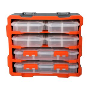 PLASTIC RACK WITH 6 ORGANIZERS