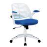 كرسي مكتبي ازرق بذراع قابلة للتعديل