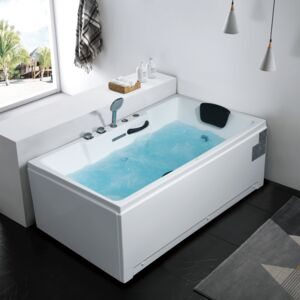 MASSAGE BATHTUB ENERGY 170X91X64CM WHITE