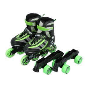 2 IN 1 INLINE SKATE RED - M