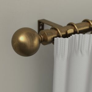 CURTAIN RODS 16/19MM BALL 120-210 GOLD