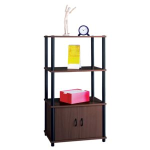 RACK FLEXI W/2SHELVES & 2DOORS WENGE