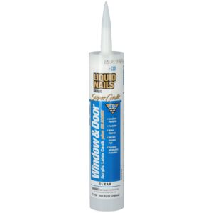 SILICONE CAULK WINDOW & DOOR CLEAR 10.1O