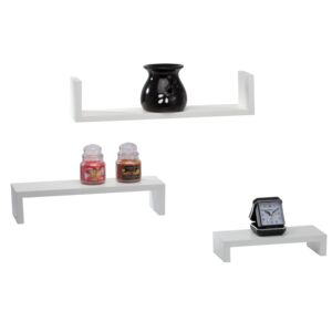 "SHELF 3PC 10X2"",14X3"",18X4"" LEDGE WHITE"