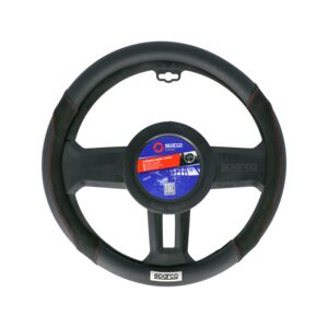 STEERING WHEEL COVER MEDIUM BLACK