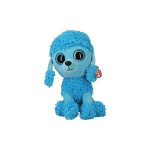 TY SOFT TOY/MANDY BLUE POODLE MED