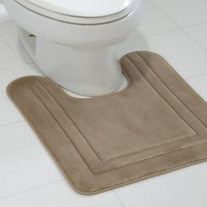 BATHMAT 53X61CM CONTOUR FLEECE BEIGE
