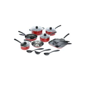 NONSTICK COOKWARE SET 18 PC RED