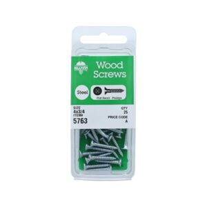 WOOD SCREW PHIL FLT HD 4X3/4 CD25