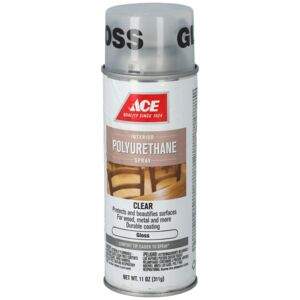VARNISH 11oz SPRAY POLY HIGH GLOSS ACE