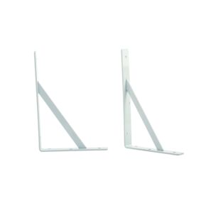 "SHELF BRACKET 16"" HEAVY DUTY WHITE"