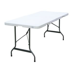 TABLE FOLDABLE 224X76X74CM 8' MOLD WHT
