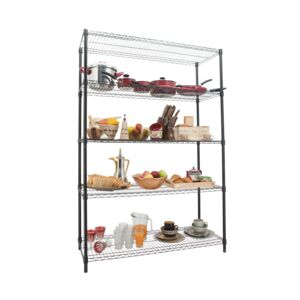 WIRE RACK 120X45X180CM 5 TIER BLACK HD