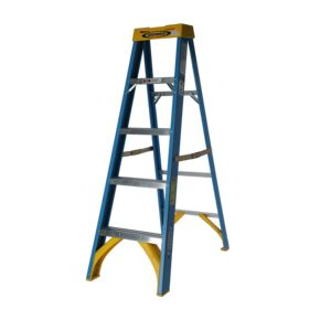 LADDER 5STEP 250LB FIBERGLASS WERNER