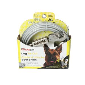 DOG TIE OUT 30' LONG XLRG CABLE