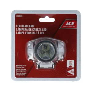 HEAD LAMP 3 LED PLASTIC ACE